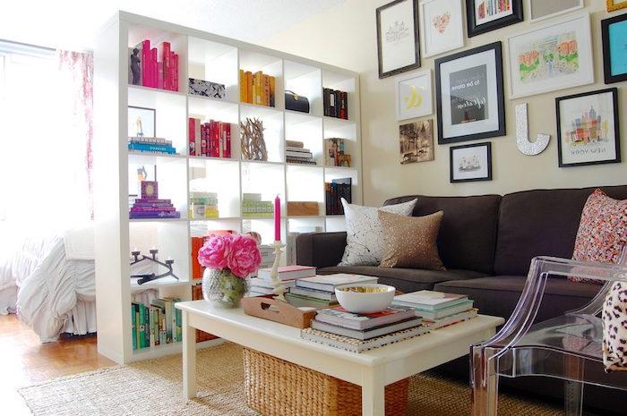 etagere-separation-chambre-séparer-une-pièce-aménager-studio-20 ...