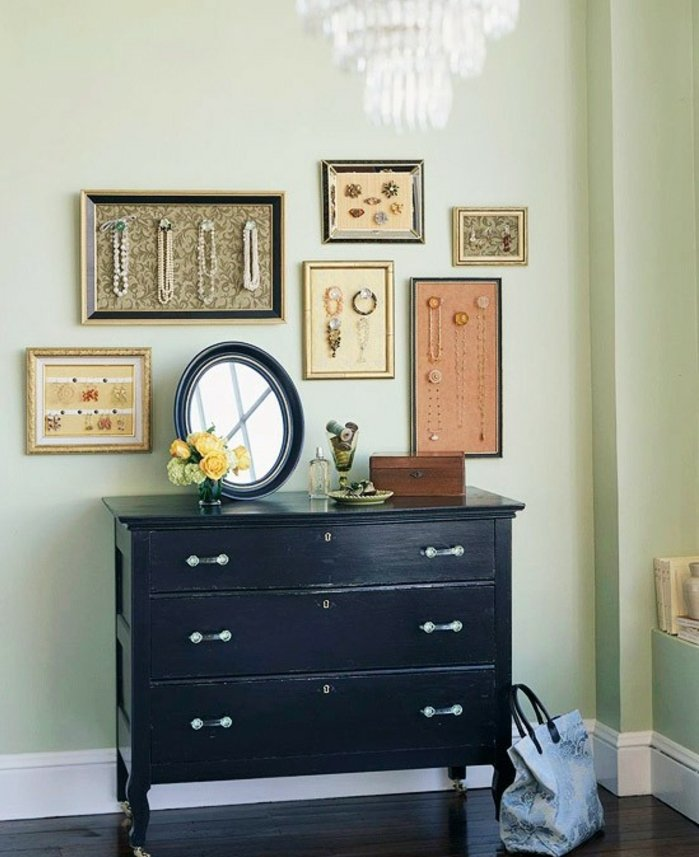 46 id es originales pour fabriquer un porte bijoux. Black Bedroom Furniture Sets. Home Design Ideas