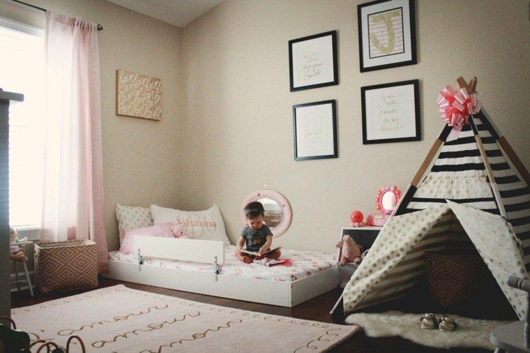 24 mod les de lit au ras du sol pour la chambre coucher des id es. Black Bedroom Furniture Sets. Home Design Ideas