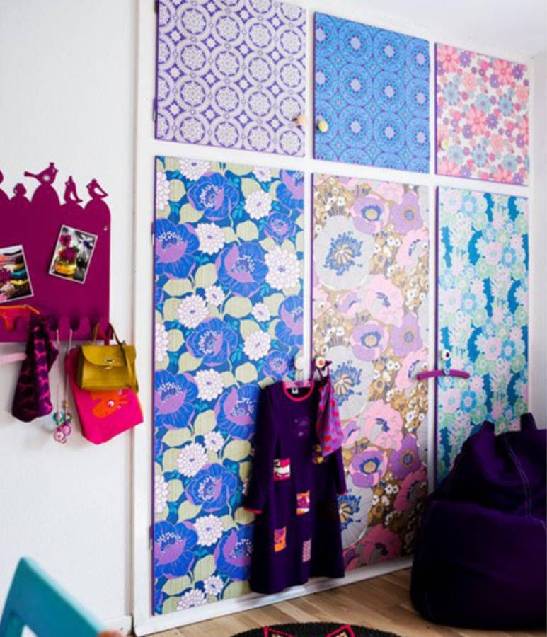 12 merveilleuses id es pour r utiliser vos chutes de papier peint page 2 sur 2 des id es. Black Bedroom Furniture Sets. Home Design Ideas