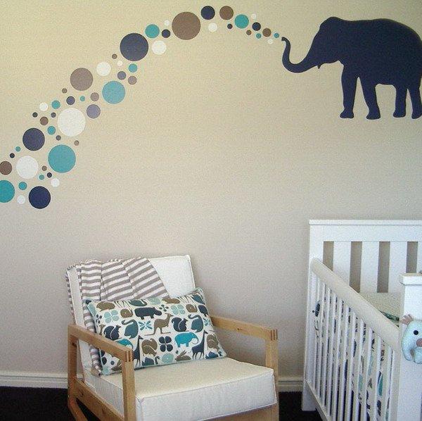 stickers-chambre-bébé-un-éléphant - Des idées
