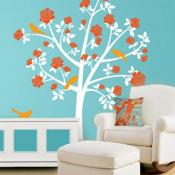 22 d corations murales avec des stickers pour la chambre for Stickers arbre pour chambre bebe