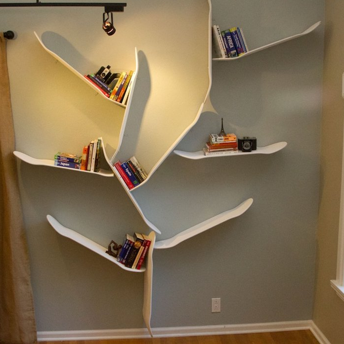 45 mani res d 39 utiliser une planche de skateboard en tag re page 3 sur 5 des id es. Black Bedroom Furniture Sets. Home Design Ideas