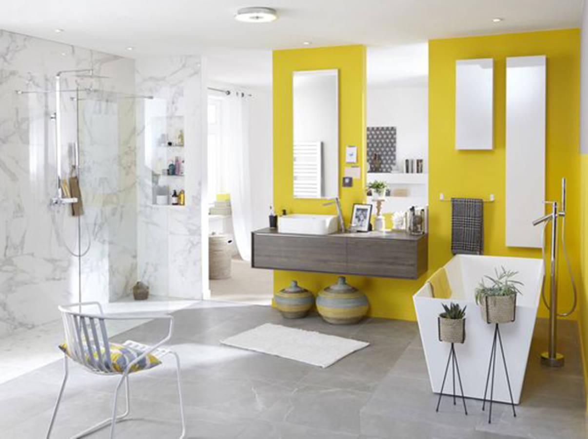50 salles de bains pleines de charme et de romantisme - Couleur salle de bain moderne ...