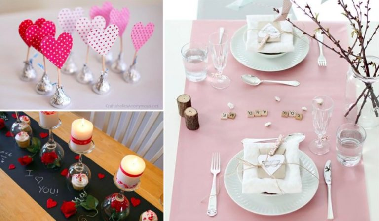 15 d corations de table pour un d ner de saint valentin romantique des id es - Image saint valentin romantique ...