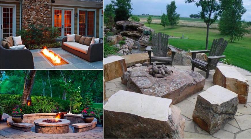14 id es de foyers ext rieurs pour embellir votre jardin des id es. Black Bedroom Furniture Sets. Home Design Ideas