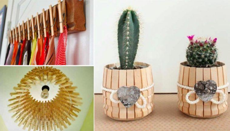 20 projets que vous pouvez r aliser avec des pinces linge en bois des id es. Black Bedroom Furniture Sets. Home Design Ideas