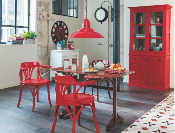 23 d corations de cuisine pour une petite ambiance bistrot des id es - Table de cuisine rouge ...