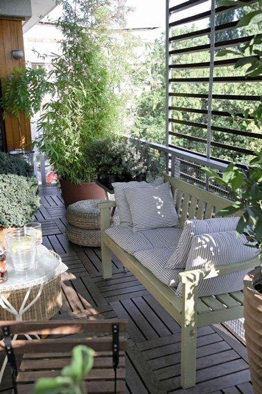 10 d corations de balcon pour vous prot ger du vis vis des id es. Black Bedroom Furniture Sets. Home Design Ideas