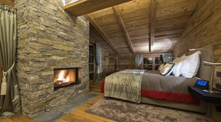 Beautiful chambre style chalet montagne pictures design trends 2017 for Chambre style chalet