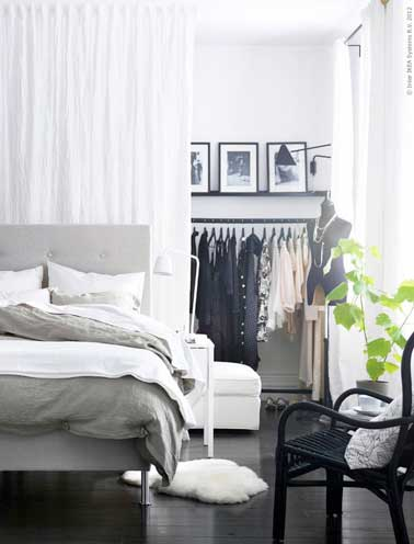 10 mani res astucieuses d 39 am nager un dressing dans une chambre parentale. Black Bedroom Furniture Sets. Home Design Ideas