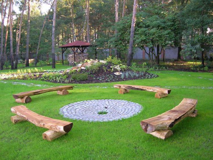 14 id es de foyers ext rieurs pour embellir votre jardin page 3 sur 4. Black Bedroom Furniture Sets. Home Design Ideas
