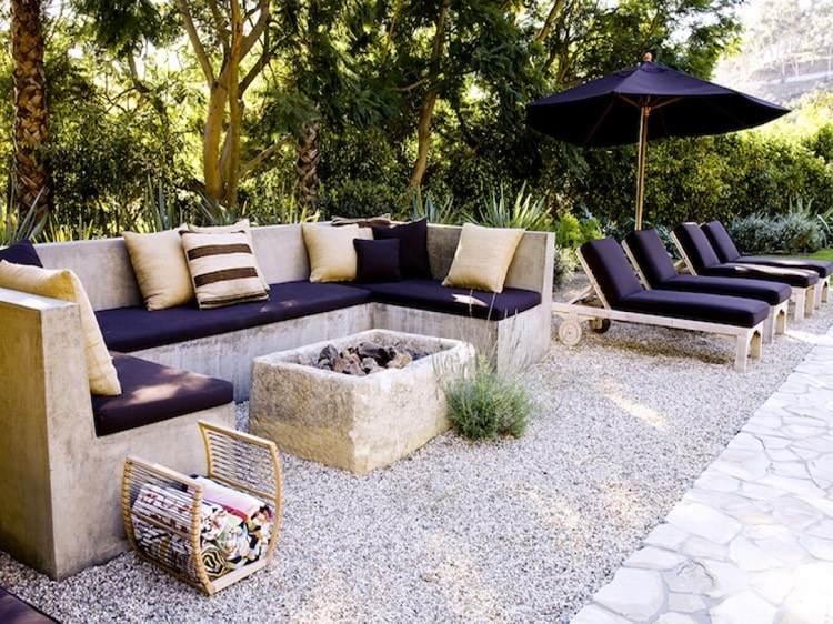 14 id es de foyers ext rieurs pour embellir votre jardin - Foyer exterieur pour jardin ...