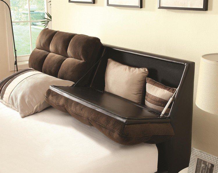 Têtes De Lit Avec Rangement Intégré Pour Votre Chambre - Lit avec tete de lit rangement