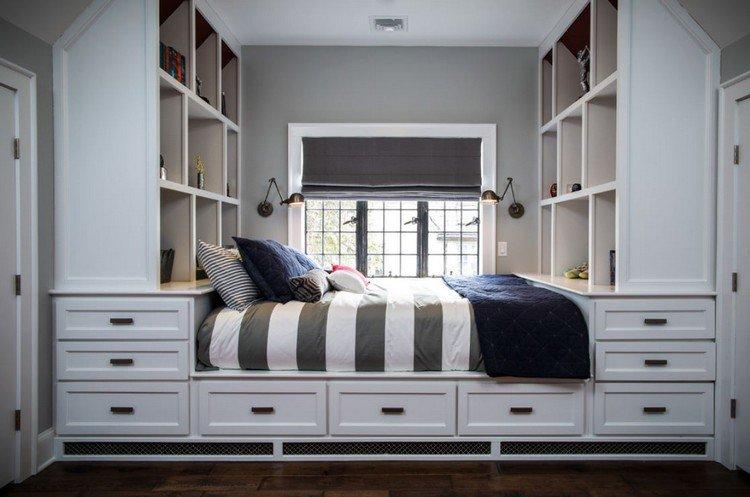 26 t tes de lit avec rangement int gr pour votre chambre page 3 sur 3 des id es. Black Bedroom Furniture Sets. Home Design Ideas