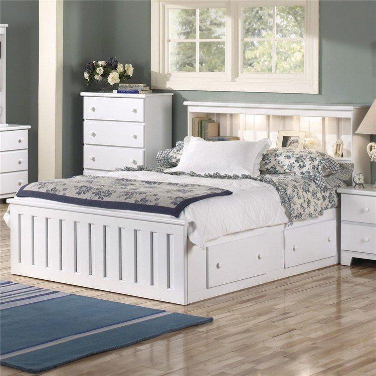 26 t tes de lit avec rangement int gr pour votre chambre - Fabriquer un lit avec rangement ...