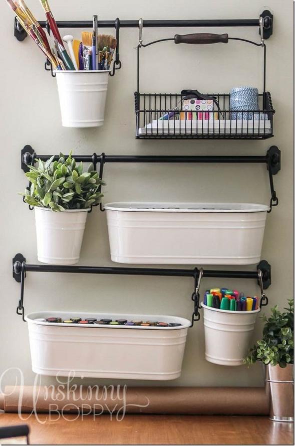 20 rangements pratiques et originaux pour votre bureau. Black Bedroom Furniture Sets. Home Design Ideas