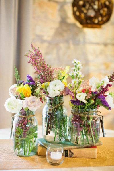 21 d corations de mariage faire avec des pots en verre des id es. Black Bedroom Furniture Sets. Home Design Ideas