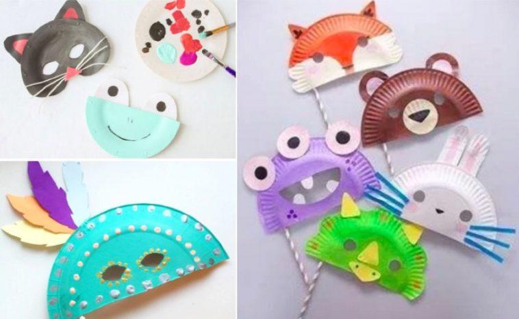 10 id es de masques faire avec des assiettes en carton. Black Bedroom Furniture Sets. Home Design Ideas