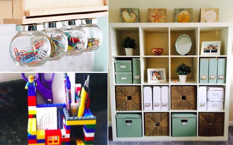 20 rangements pratiques et originaux pour votre bureau des id es. Black Bedroom Furniture Sets. Home Design Ideas
