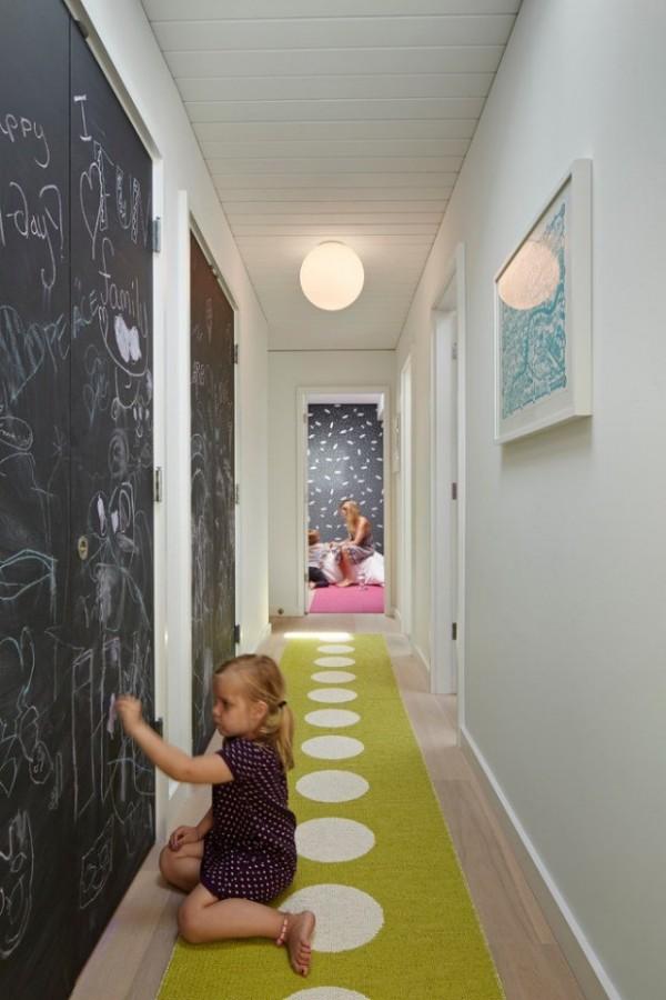 decoration-couloir-peinture-ardoise - Des idées