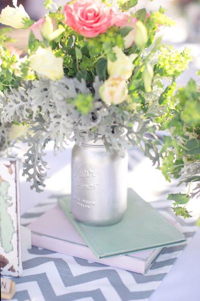 21 d corations de mariage faire avec des pots en verre. Black Bedroom Furniture Sets. Home Design Ideas