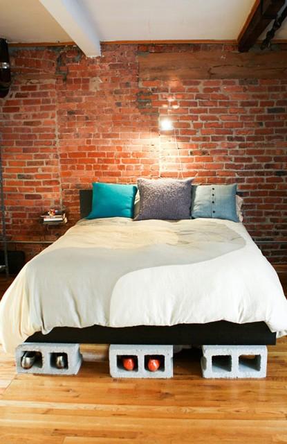 14 mani res originales d 39 utiliser des parpaings comme meubles ou accessoires des id es. Black Bedroom Furniture Sets. Home Design Ideas