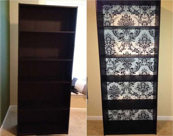 Avant apr s 25 meubles relook s avec du papier peint for Le pere du meuble furniture