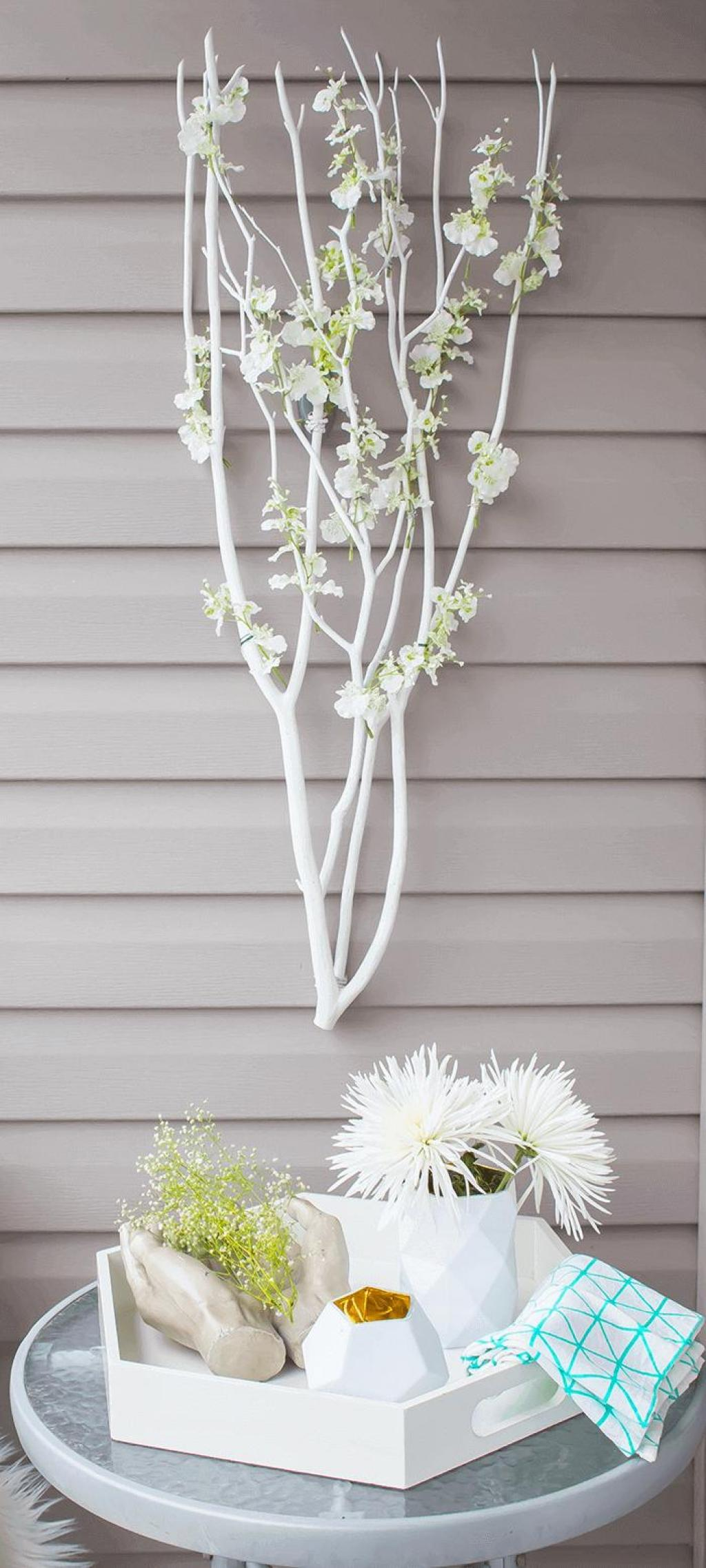 10 projets d co avec des branches pour accueillir le printemps dans votre int rieur page 2 sur. Black Bedroom Furniture Sets. Home Design Ideas