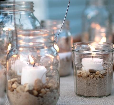 21 d corations de mariage faire avec des pots en verre for Pot en verre deco
