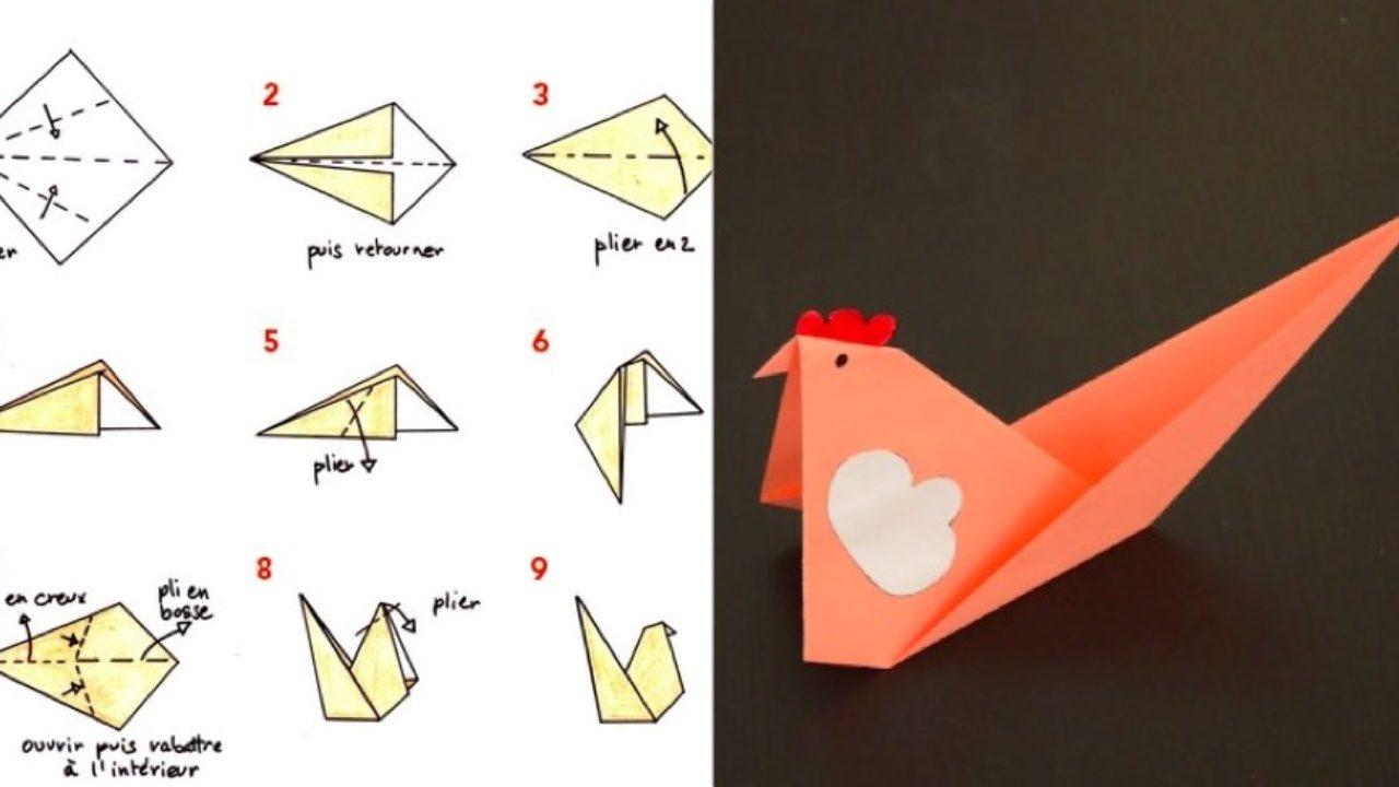 Tuto Spécial Pâques Fabriquez Une Poule En Origami