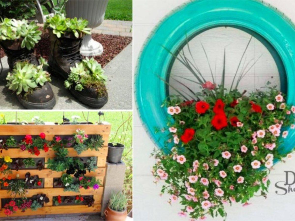 Pot De Fleur Avec Des Pneus 10 jardini�res � fabriquer pour un petit coin vert sur votre