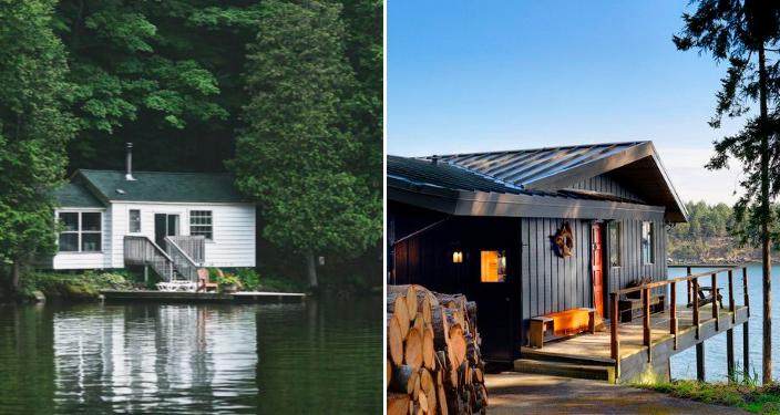 18 maisons au bord du lac qui vont vous donner envie de. Black Bedroom Furniture Sets. Home Design Ideas