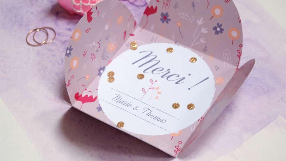 20 mod les diy de cartes de remerciements de mariage des id es. Black Bedroom Furniture Sets. Home Design Ideas