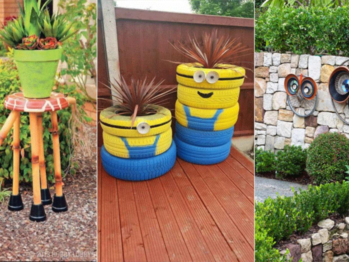 Pot De Fleur Avec Des Pneus 13 personnages rigolos � cr�er pour d�corer votre jardin