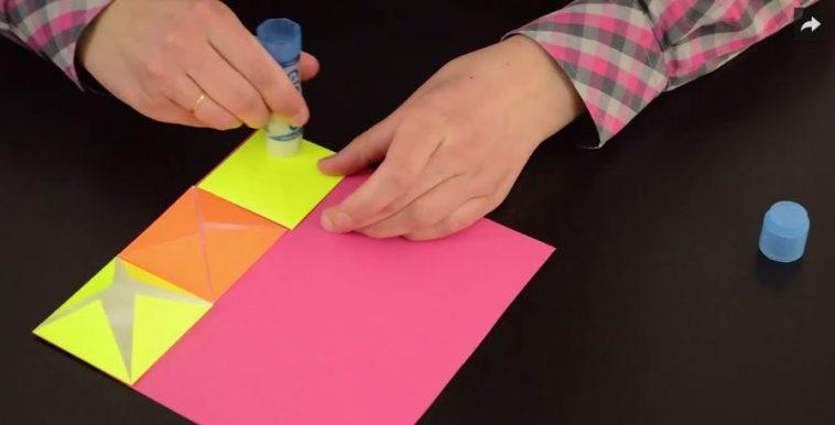 tuto tableau origami