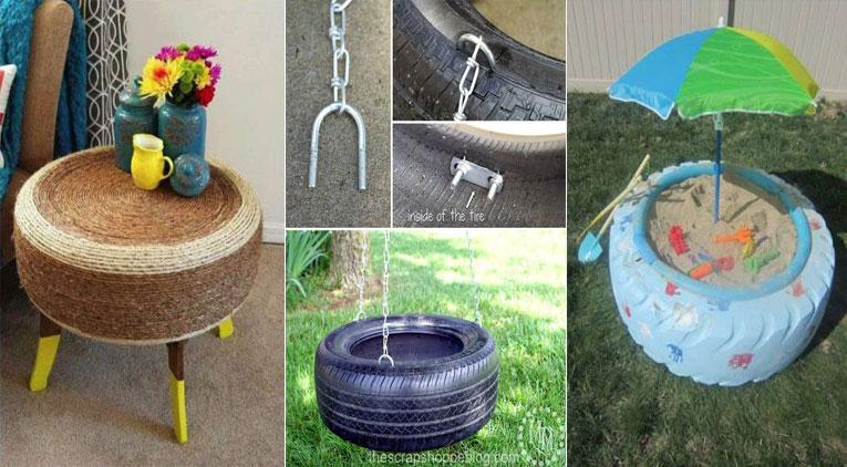 6 id es astucieuses pour recycler ses vieux pneus des id es. Black Bedroom Furniture Sets. Home Design Ideas