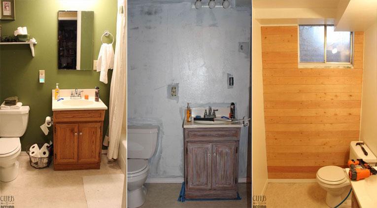 Avant apr s en d pensant seulement 80 euros cette for Transformation salle de bain