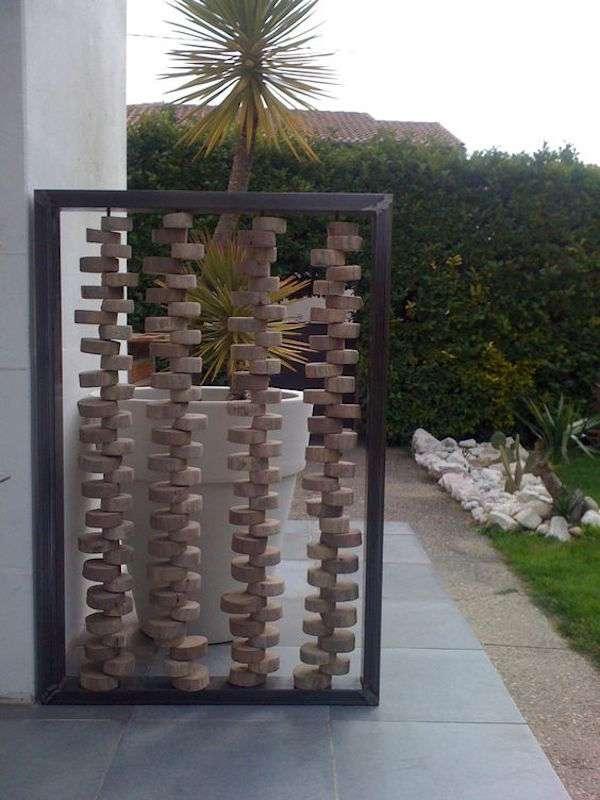10 meubles et d corations de jardin faire avec des rondins des id es - Meuble en rondin de bois ...