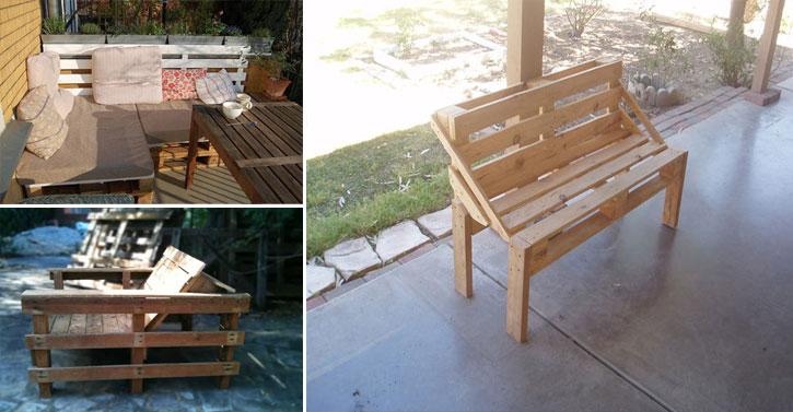 18 salons de jardin que vous pouvez fabriquer avec des. Black Bedroom Furniture Sets. Home Design Ideas
