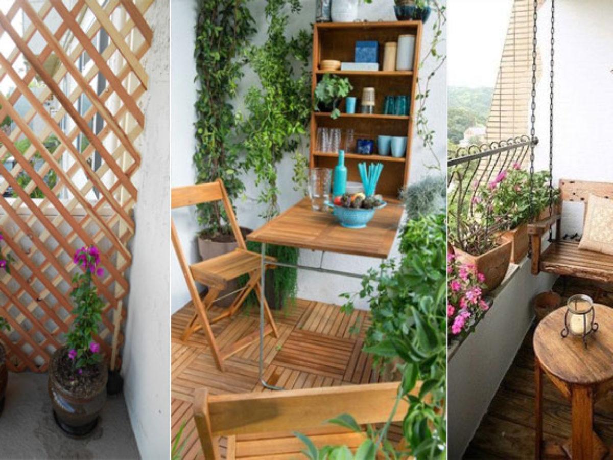 Table Pour Balcon Étroit 15 façons d'utiliser le bois pour décorer votre balcon