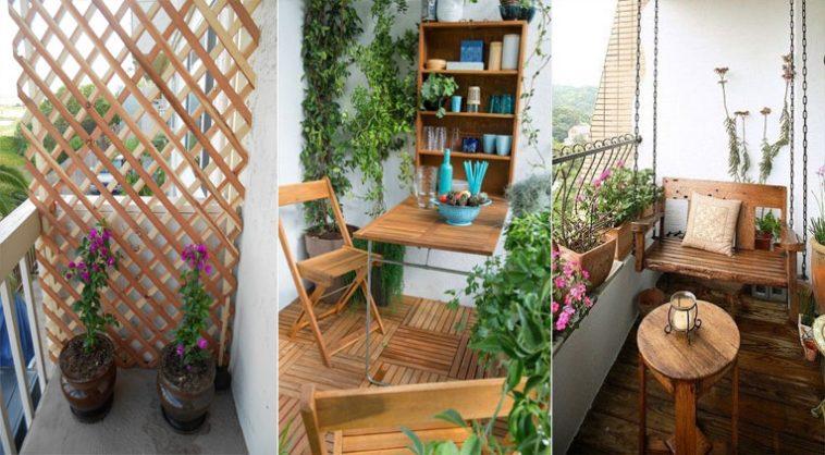 15 fa ons d 39 utiliser le bois pour d corer votre balcon des id es. Black Bedroom Furniture Sets. Home Design Ideas