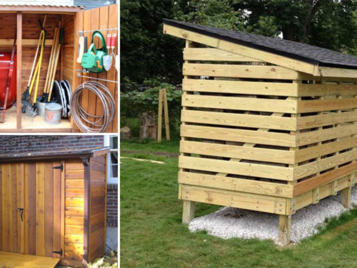 Abri De Jardin Avec Palettes 10 abris de jardin pour stocker votre bois ou vos outils de