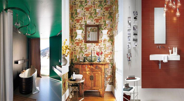 15 trucs et astuces pour mettre de la couleur votre salle de bain. Black Bedroom Furniture Sets. Home Design Ideas