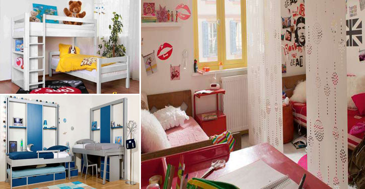 20 fa ons d 39 am nager une petite chambre pour deux ou plusieurs enfants. Black Bedroom Furniture Sets. Home Design Ideas