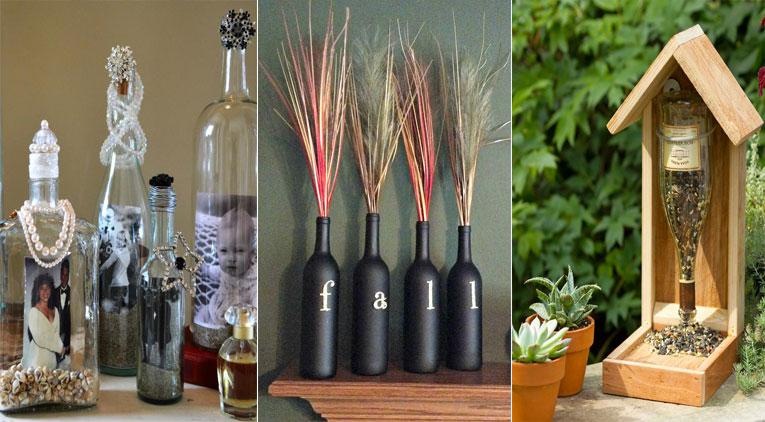 12 bonnes id es pour recycler vos bouteilles en verre et d corer en m me temps votre int rieur. Black Bedroom Furniture Sets. Home Design Ideas