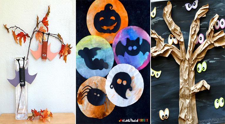 18 bricolages d 39 halloween adorables mais qui font tout de m me un peu peur des id es. Black Bedroom Furniture Sets. Home Design Ideas