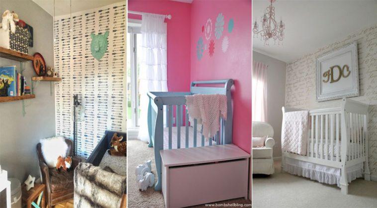 10 mani res de d corer une chambre de b b avec des pochoirs des id es - Decorer une chambre bebe ...