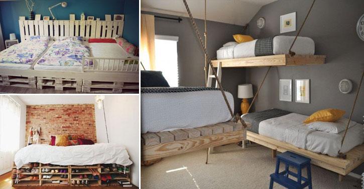 18 lits en palettes pour donner une touche d 39 originalit votre chambre. Black Bedroom Furniture Sets. Home Design Ideas