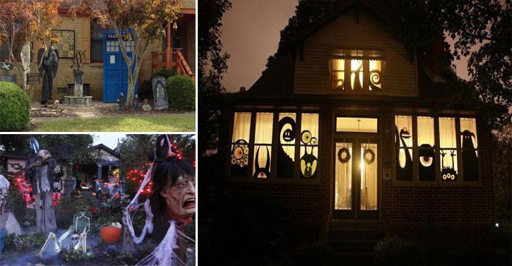 14 maisons magnifiquement d cor es pour halloween des id es. Black Bedroom Furniture Sets. Home Design Ideas